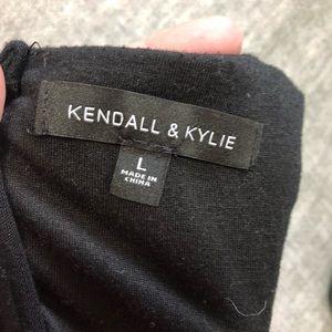 Kendall & Kylie Pants - Kendall + Kylie black lace & crochet romper sz.L